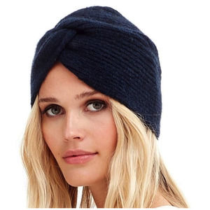 Naked Cashmere Rhea Knot Front Knit Beanie Black OS